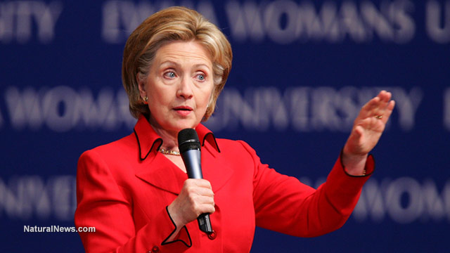 editorial-use-hillary-clinton-speaks-microphone