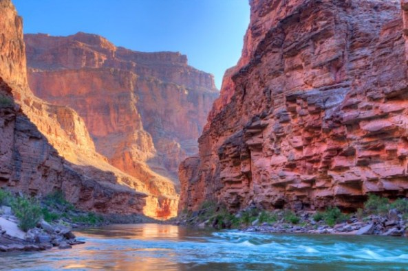 Inner Grand Canyon catching days first rays.