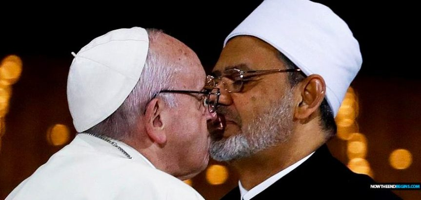 IN THE NAME OF ALLAH: THE END TIMES 'UNIVERSAL PEACE DOCUMENT' POPE FRANCIS SIGNED WITH ISLAMIC LEADER MAKES NO REFERENCE OF ANY KIND TO JESUS CHRIST OR THE BIBLE