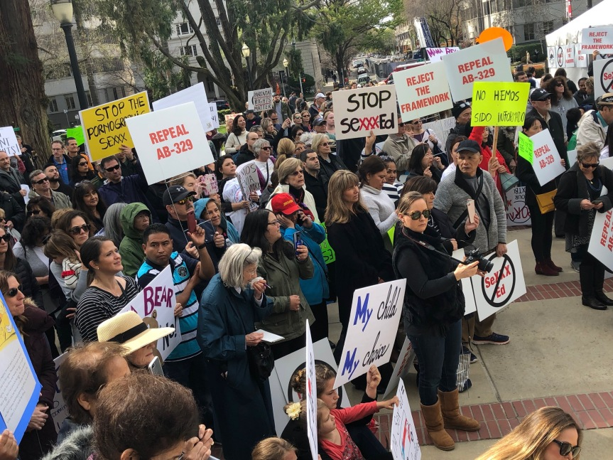 Thousands of Outraged Parents Rally At State Capitol Over Hyper-Sexualized K-12 Curriculum