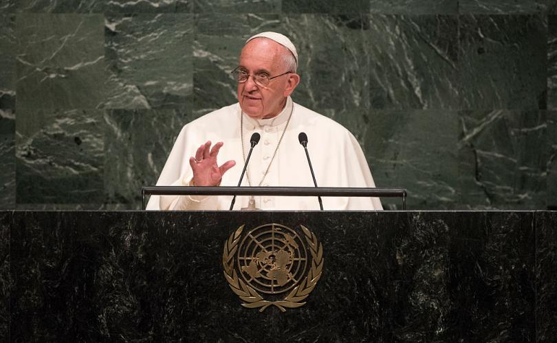Globalist Pope Francis calls for new 'supranational' authorities that would to rule countries and enforce UN goals