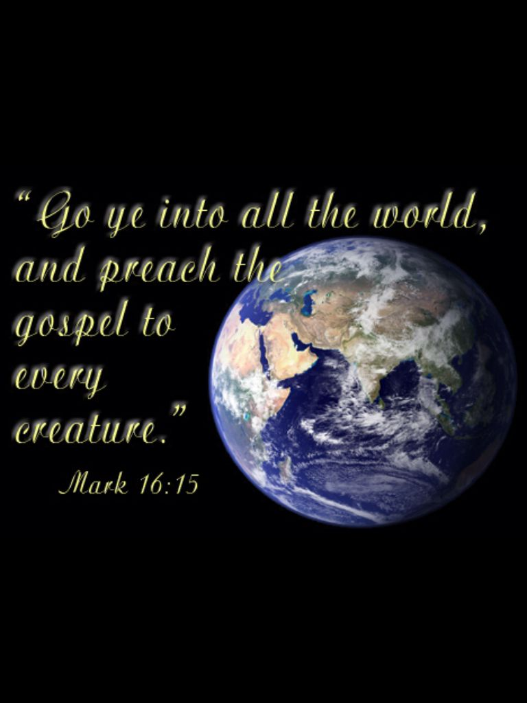 Your Daily Readings – Verse of the Day – Mark 16:15 – 16 – May 6,2019