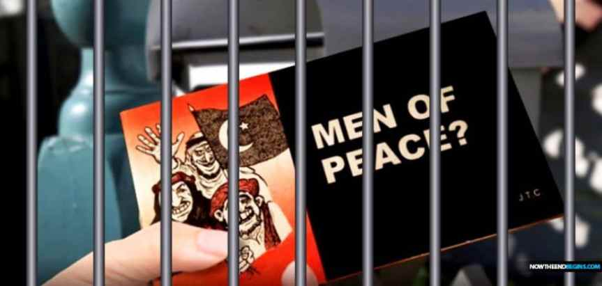 POLICE IN NEW ZEALAND LOOKING TO MAKE ARREST OF PERSON WHO LEFT A CHICK GOSPEL TRACT ABOUT ISLAM AND MUSLIMS CALLED 'MEN OF PEACE' IN MAILBOX