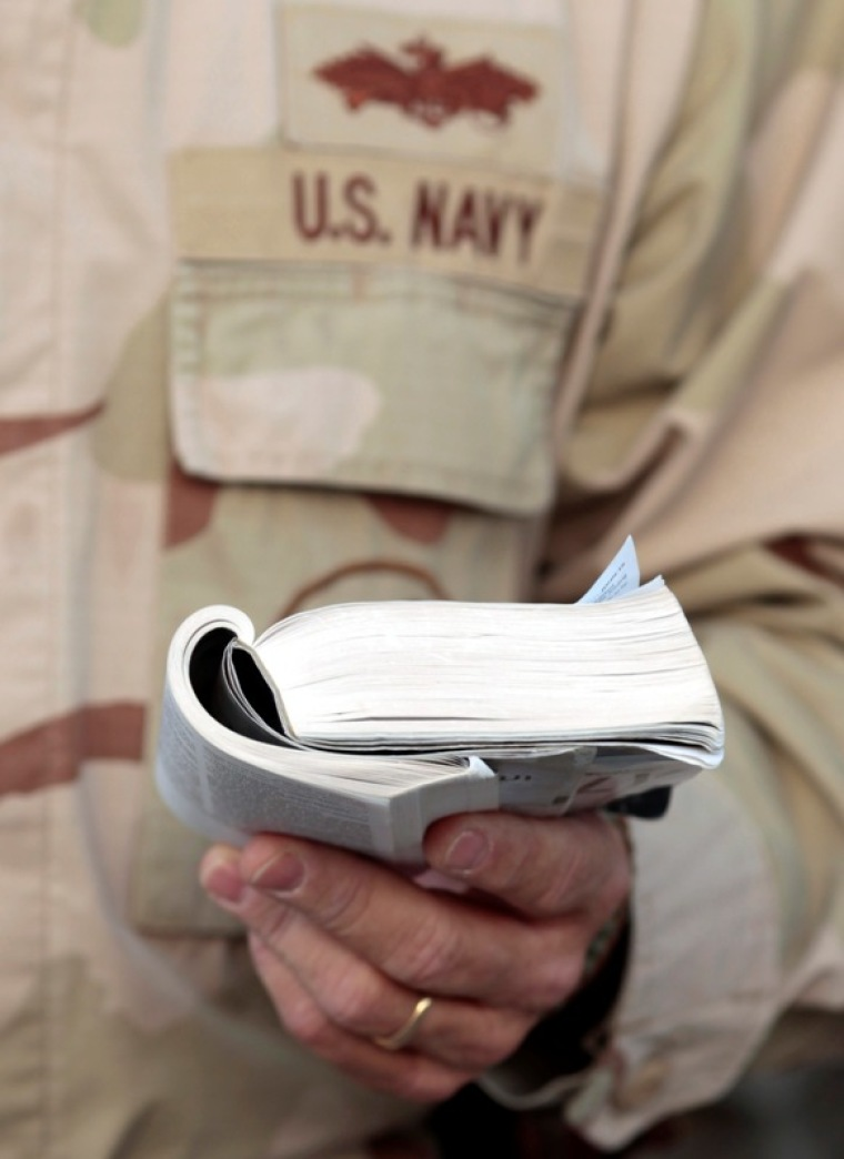 Navy chaplain accused of violating Constitution for encouraging soldiers to 'lead likeJesus'