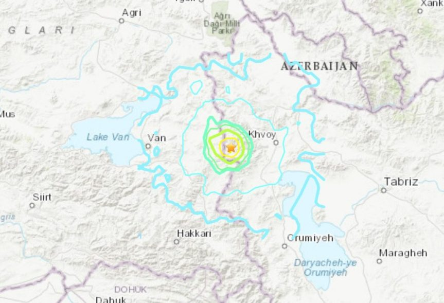 M5.7 Turkey-Iran Earthquake Kills at Least 8 and Injures 30 – Major Infrastructure Collapse in BothCountries