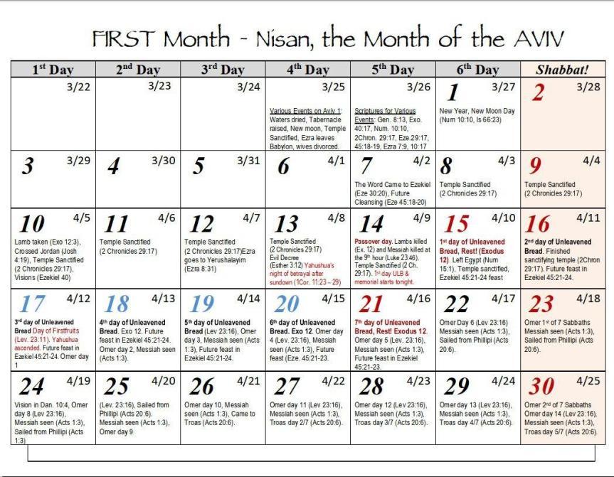 Biblical First Month 1