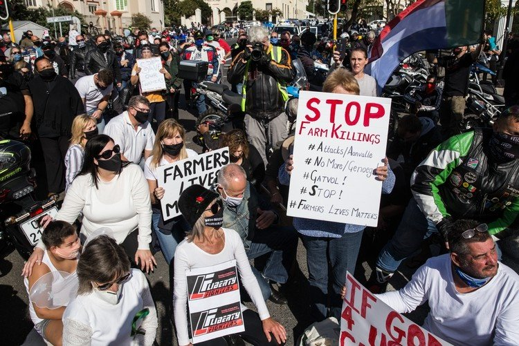PICS | Hundreds of bikers protest against farm murders