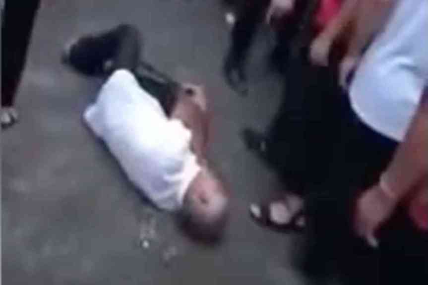 Chinese government tears down crosses, brutalizes 80-year-old man who intervenes