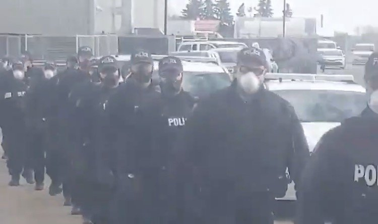 """""""The Shock Troops Are Coming!"""" – 200 Heavily-Armed Canadian Police Deployed to Edmonton Church to Harass Christians(VIDEO)"""